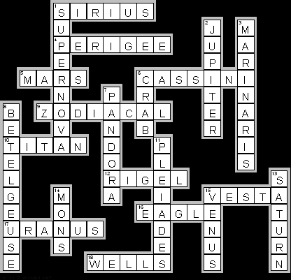 astronomy crossword puzzle printable - photo #22