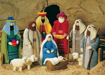 Free Crochet Patterns Nativity Scene : michelle made this: Knitted Nativity