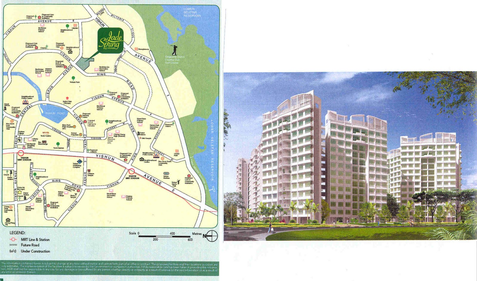 jade spring at yishun map and artist s impression