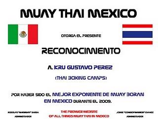 Reconocimiento de la comunidad del Muay Thai en Mexico!
