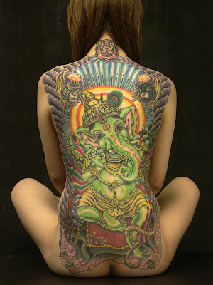 ganesha tattoos. Wicked full-back Ganesh Tattoo