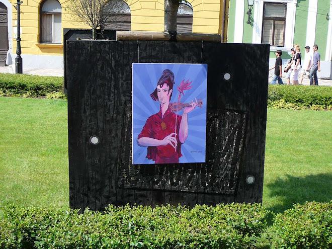 """"""" ARANYKOR """" , Installáció, 2008. ,  Váci Világi Vígalom , Kettős Tamás - Cs. Nagy András - CSNB"""