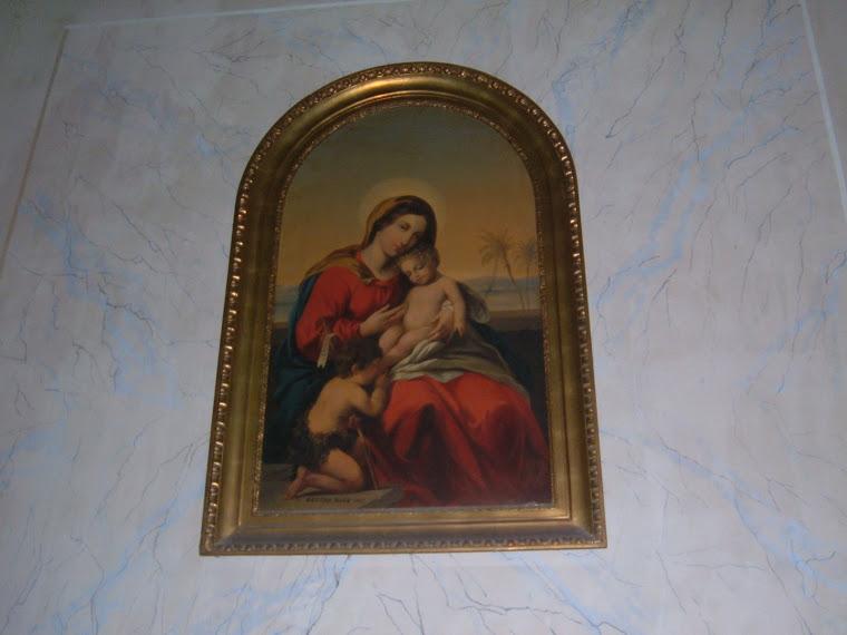 Pictura realizata de Berta Nako donata Biserici romano-catolice