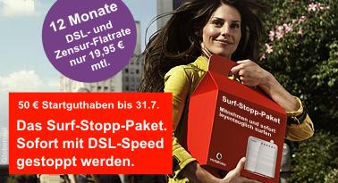 Surf-Stopp-Paket von Vodafone