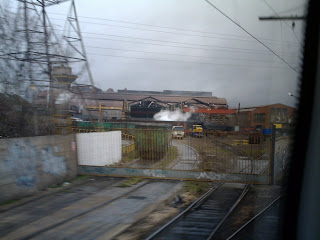 Entrada ferroviaria a Arcelor
