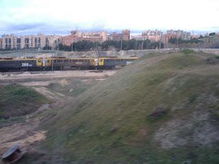 Varias 269 a la entrada de la estación de El Abroñigal