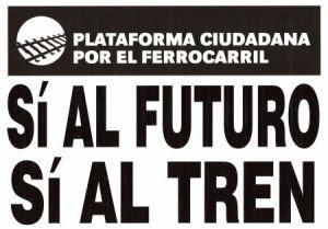 Cartel de la Plataforma Ciudadana por el Ferrocarril de Aranda de Duero