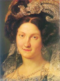 La Reina Gobernadora doña María Cristina, que concedió la amnistía que da nombre a nuestra calle