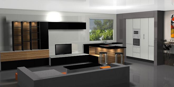 Diseño de cocina y salón