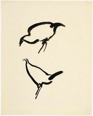 Josef Albers, Two Chickens, 1917