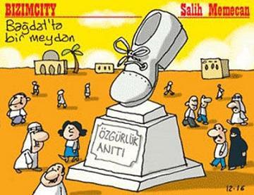 Karikatürler, özgürlük anıtı