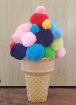 The honeybunch home companion ice cream party for Ice cream cone paper craft