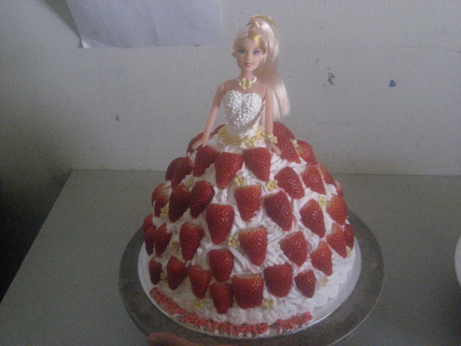 Fresh Cream Barbie Cake