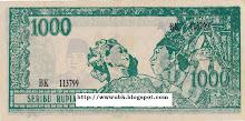 Rp 1000 Sepasang Penari Tahun 1960