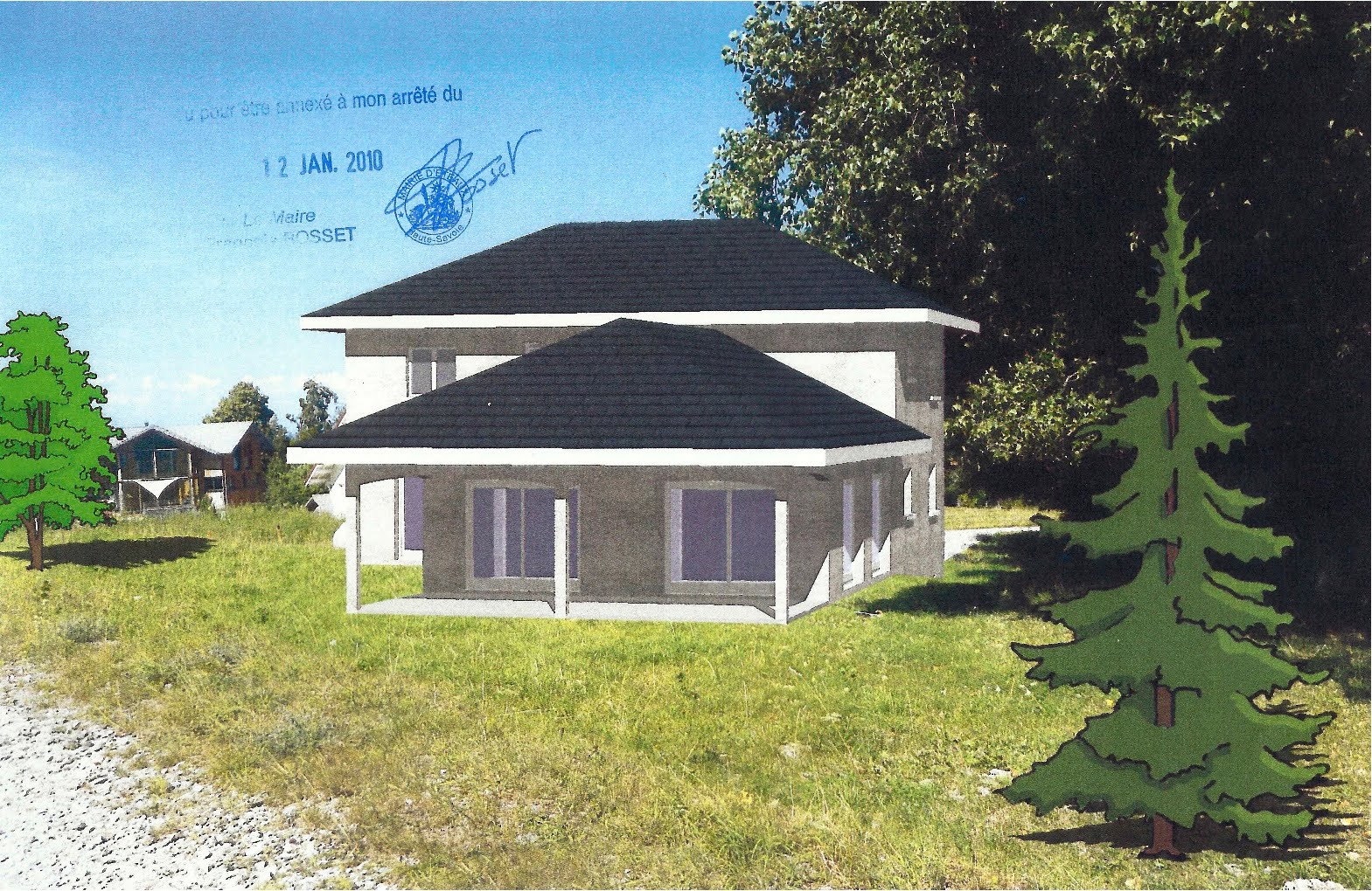 Talons aiguilles en terrain inconnu la construction avance for Simulation construction maison