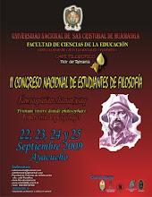 II Congreso Nacional de Estudiantes de Filosofía -UNSCH.
