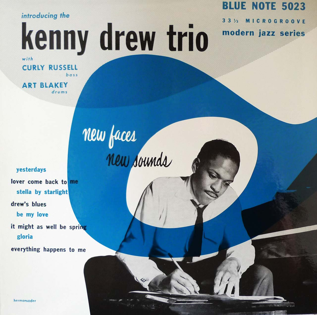 kenny drew trio - new faces new sounds (sleeve art)
