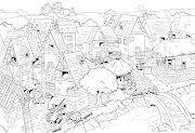 Ilustração didática cidade medieval. Postado por Enágio Coelho às 7:54 AM
