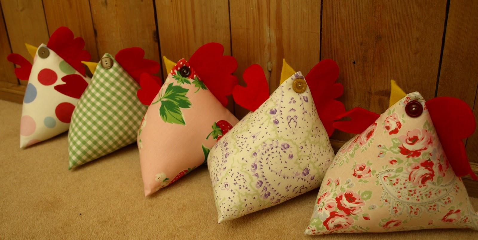 The sew happy shop fabulous sew happy selection of fabric chicken doorstops grab one quick - Chicken doorstops ...