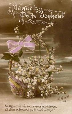 cartes postales anciennes carte postale ancienne muguet porte bonheur. Black Bedroom Furniture Sets. Home Design Ideas