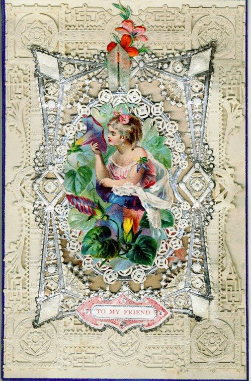 Cartes postales anciennes: Carte postale ancienne, dentelle de papier