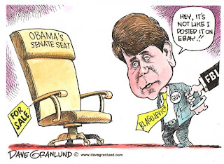 Blago caught selling US Senate Seat