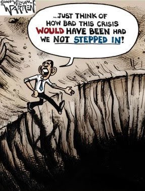 cartoon obama digging a hole 