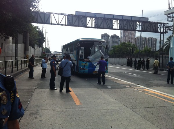 Makati Bus Bombing. EDSA-BUENDIA BUS BLAST ON JAN.