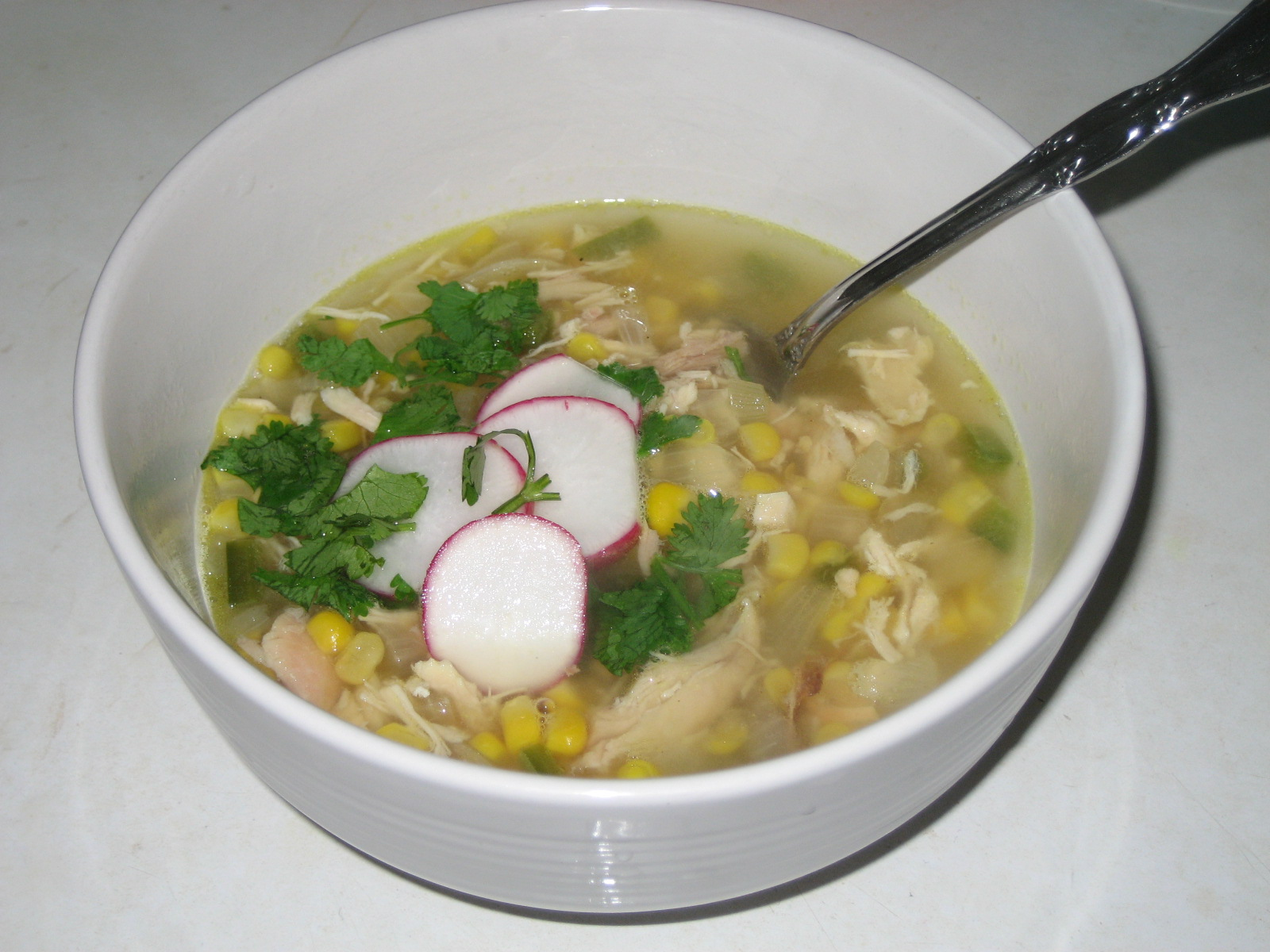 Piggie Diaries: Pozole: Mexican Chicken-Hominy Soup