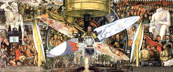 <b><i>El Hombre en una encrucijada</i></b> de Diego Rivera