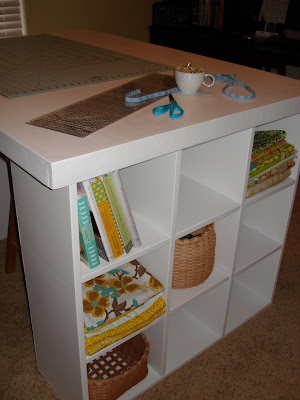 Cutting Table with Storage....You can make one too!