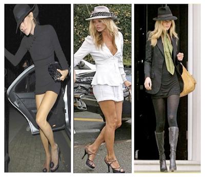 Looks Kate Moss con sus complementos: sombreros, maxi bolsos, fulares