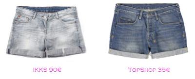 Shorts y bermudas: IKKS 90€ - TopShop 35€