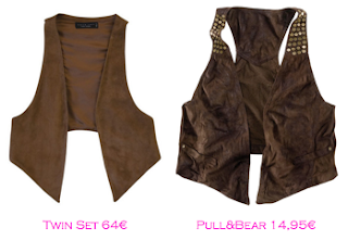 Chalecos: Twin-Set 64€ - Pull&Bear 14,95€