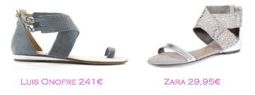 Parecidos Razonables: sandalias planas Luis Onofre - Zara