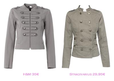 Chaquetas militares: H&M 35€ - Stradivarius 29,95€