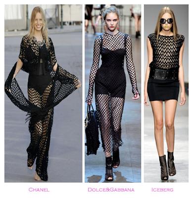Parecidos razonables: Redes: Chanel (Crucero 2010/2011) - Dolce&Gabbana (Primavera-verano 2010) - Iceberg (Primavera-verano 2010)