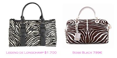 Parecidos razonables: Bolsos print cebra: Legend de Longchamp - Boss Black