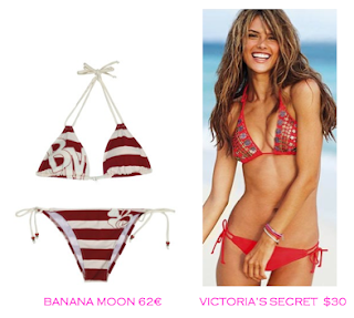 Comparativa precios bikinis para delgadas: Banana Moon 62€ vs Victoria's Secret $30