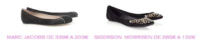 Tienda online: Net-a-porter: Bailarinas: Marc Jacobs 203€ vs Sigerson Morrisen 132€