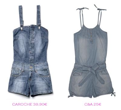 Comparativa precios: Monoshorts denim: Caroche 39,90€ vs C&A 25€