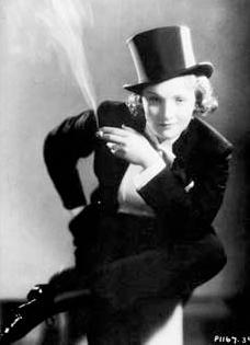 Marlene Dietrich, estilo masculino