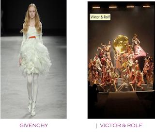 Un diseño pasarela y la puesta en escena de un desfile. Danza más que moda. Givenchy - Victor&Rolf