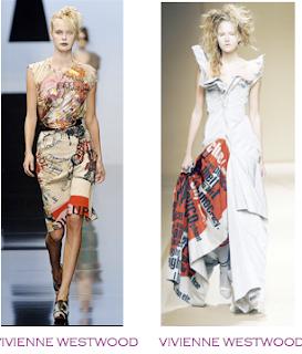Dos diseños pasarela que podrían considerarse obras literarias. Vivienne Westwood