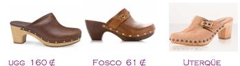 Comparativa precios 2010: Zuecos mini: Ugg 160€ - Fosco 61€ - Uterqüe
