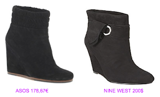 Botines cuña 15 Asos vs Nine West
