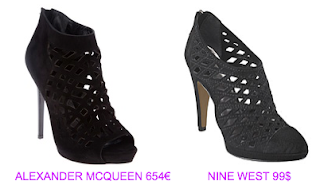 Zapatos Alexander McQueen vs Nine West