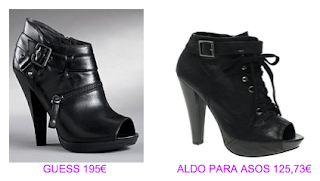 Abotinados peep toe 5 Guess vs Aldo