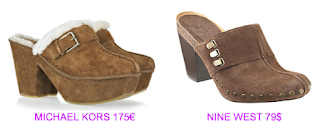 Zuecos Michael Kors vs Nine West