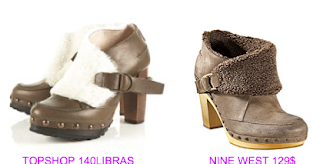 Zuecos TopShop vs Nine West
